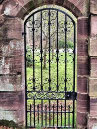 iron gate at the garden of fyvie castle scotland