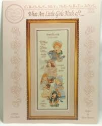 Csl Chart Details About What Little Girls Are Made Of Cross Stitch Pattern Chart Csl 51 Cross My Heart