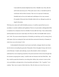 final extended essay li  leyson addresses his relationship schindler 7