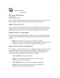 Monster Cover Letters Cover Letter Example