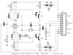 fet simple symmetrical class a amplifier electronic circuit fet simple symmetrical class a amplifier