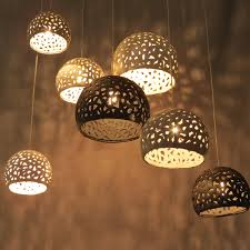 appealing brown wall paint plus adorable wicker honey comb moroccan pendant light for beautiful lighting