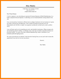 6 Manufacturing Cover Letter Examples New Hope Stream Wood