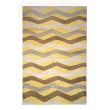 tufenkian modern yellow brown gray wool rug 8212