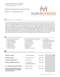 Resume Retail Merchandising Manager Sample Fashion Visual Examples