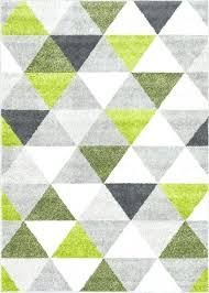 green geometric rug modern lime and white