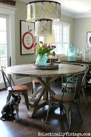 diy round rustic dining table round farmhouse table ideas farmhous on double pedestal old and vintage