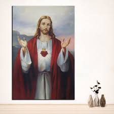 large sizes wall art wall decor christ custom portrait original oil painting print for wall