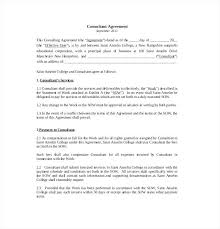 Sample Consultant Agreement Template As Well As Consulting Agreement ...