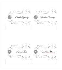 Template For Place Cards Free Place Card Free Template Under Fontanacountryinn Com