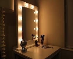 mirror vanities for bedroom with lights