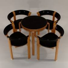 round coffee table with chairs underneath coffee table
