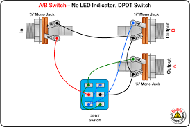 a b switch wiring diagram no led dpdt switch electronics a b switch wiring diagram no led dpdt switch ギターの建物