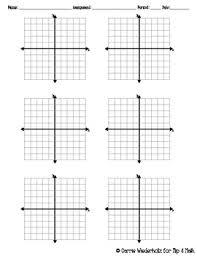 Graph Paper Four Quadrant By Flip 4 Math Teachers Pay Teachers