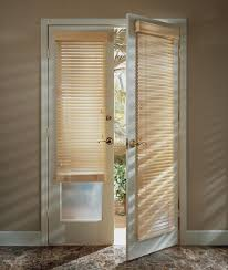 wood blinds on french doors