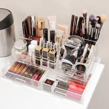 Acrylic Makeup Organizer With Drawer; &; &; &. Roll over to zoom