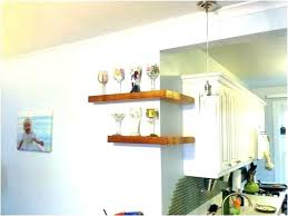 white floating corner shelf large white floating corner shelf gloss long furniture appealing size of kitchen