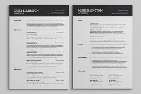Two Pages Classic Resume Cv Template By Snipescientist On