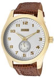 croton watches men s ermex white textured dial light brown croton watches men s ermex white textured dial light brown genuine lizard cn307296hbsl croton watches luxury wrist watches