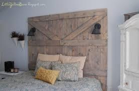diy barn door headboard tutorial on lilluna so cute and pretty easy