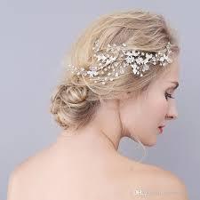Superbe Moderne De Mariage Peignes De Cheveux Délicate Strass Cristal Flexible Bendable Argent Mariée Coiffures Accessoires De Mariée à La Main
