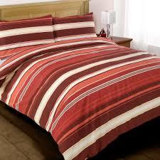 image of duvet cover red stripes