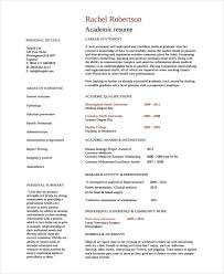 Academic Resume Template Academic Resume Template 6 Free Word Pdf with  regard to Academic Resume Template