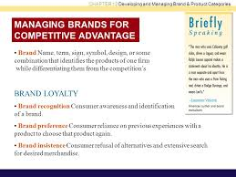 brand management objectives chapter objectives developing and managing brand and product