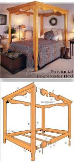 four poster bed plans. Brilliant Bed Four Poster Bed Plans  Furniture And Projects  WoodArchivistcom In I