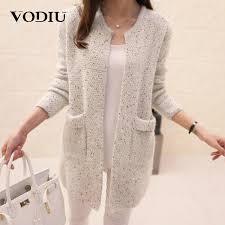 Cardigan Female Casual Sweaters <b>Autumn Winter Long Sleeve</b> ...