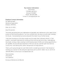 Cover Letter Example Receptionist Cover Letter For Receptionist