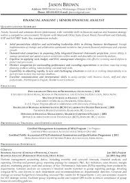 Sample Senior Business Analyst Resume Sample Management Business ...
