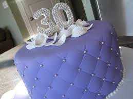 Purple 30th Birthday Cakecentralcom