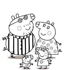 peppa pig coloring pages printable and
