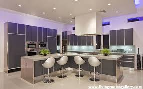 POP False Ceiling Designs For Kitchen with LED lighting