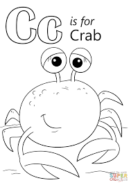 Small Picture Letter C is for Crab coloring page Free Printable Coloring Pages