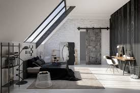 ... Endearing Bedroom Decoration With Various Sliding Bed Table : Gorgeous  Modern Black And Grey Bedroom Decoration ...