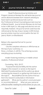 Get Answer 5 Read Professional Journal Articles And Prepare