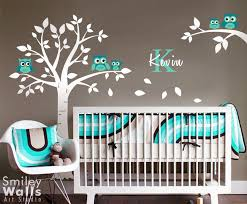 owls tree wall decal superb wall decal baby room