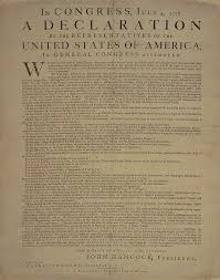 george washington s copy of the declaration of independence this is an image of george washington s personal copy
