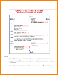 Semi Block Letter Format Example Cover Title Page Style Business