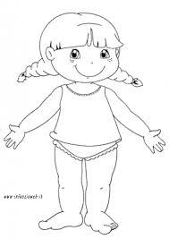 Disegni Da Colorare Categoria Schema Corporeo Immagine Bambina