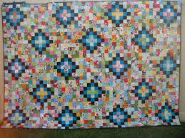 Machine Quilting | Squares and Triangles & Scrap Vomit / Technicolor Yawn Quilt Finished (74) Adamdwight.com