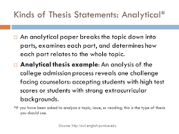 bellwork thesis statement write your thesis statement for your  kinds of thesis statements analytical