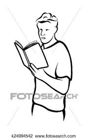 clipart man reading book fotosearch search clip art ilration murals drawings