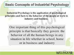 industrial psychology introduction to industrial psychology and its basic concept