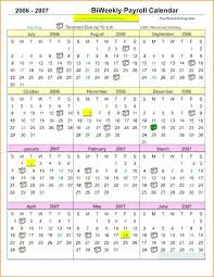 Payroll Calendar Template Awesome Biweekly Payroll Calendar Template Bi Weekly Work Calendar Biweekly