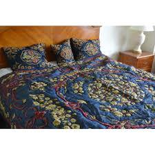 crewel bedding art nouveau silky royal