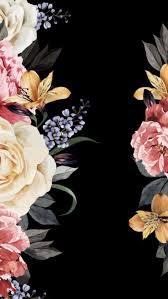 Iphone Black Floral Background ...