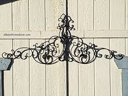 >amazon large tuscan wrought iron metal wall decor home kitchen large tuscan wrought iron metal wall decor